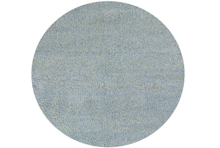 96 Inch Round Rug-Elation Shag Heather Blue