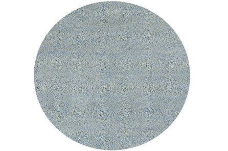 96 Inch Round Rug-Elation Shag Heather Blue - Main