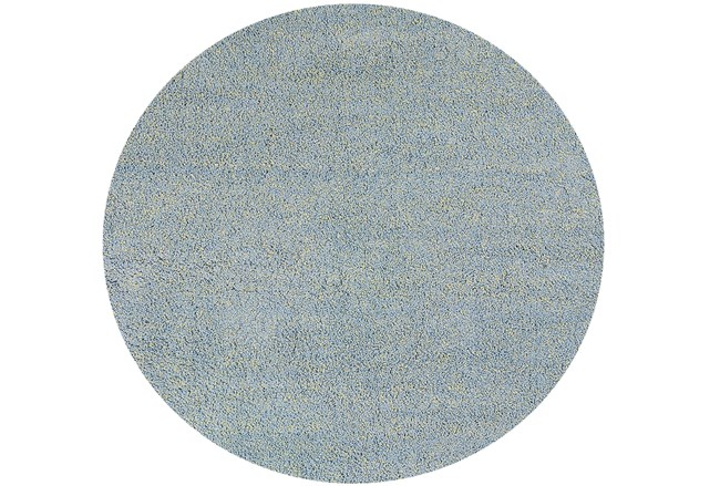 96 Inch Round Rug-Elation Shag Heather Blue - 360