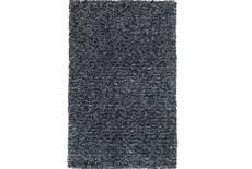 39X63 Rug-Elation Shag Heather Black