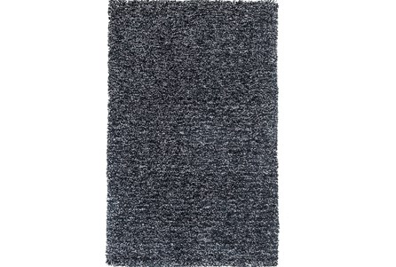 60X84 Rug-Elation Shag Heather Black