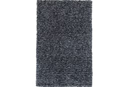 90X114 Rug-Elation Shag Heather Black