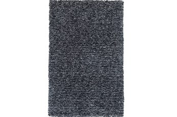 "7'5""x9'5"" Rug-Elation Shag Heather Black"