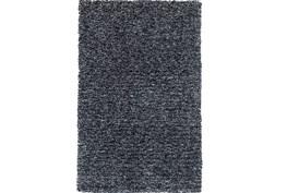 96X132 Rug-Elation Shag Heather Black