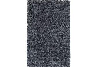 8'x11' Rug-Elation Shag Heather Black