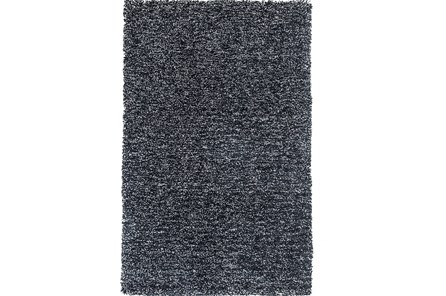 96X132 Rug-Elation Shag Heather Black - Main