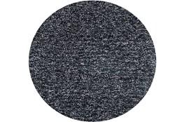 96 Inch Round Rug-Elation Shag Heather Black