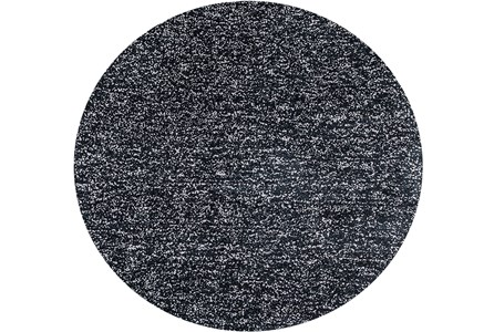 96 Inch Round Rug-Elation Shag Heather Black