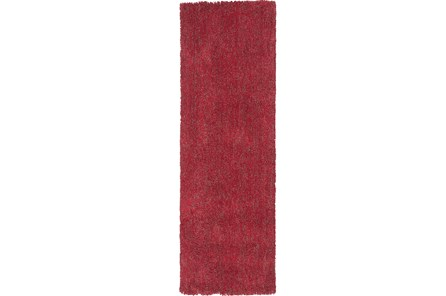 27X90 Runner Rug-Elation Shag Heather Red