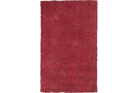 39X63 Rug-Elation Shag Heather Red