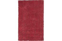 60X84 Rug-Elation Shag Heather Red