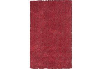 5'x7' Rug-Elation Shag Heather Red