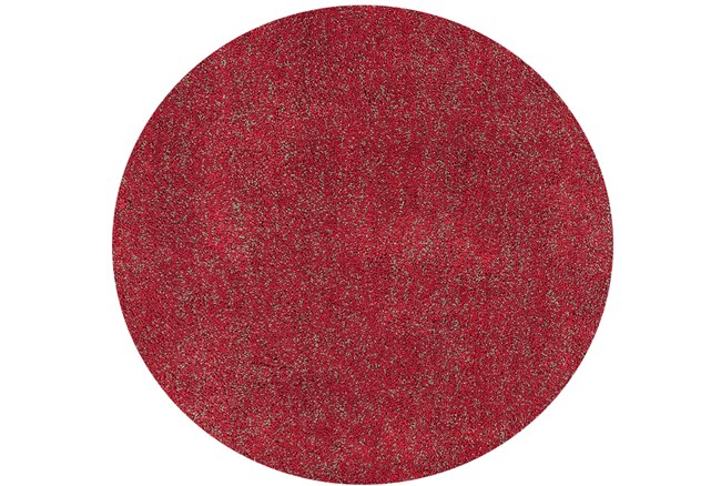72 Inch Round Rug-Elation Shag Heather Red - 360