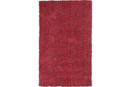 90X114 Rug-Elation Shag Heather Red