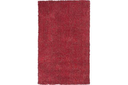 96X132 Rug-Elation Shag Heather Red