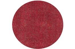 96 Inch Round Rug-Elation Shag Heather Red