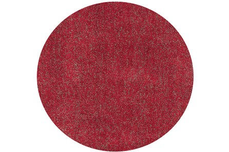 96 Inch Round Rug-Elation Shag Heather Red - Main