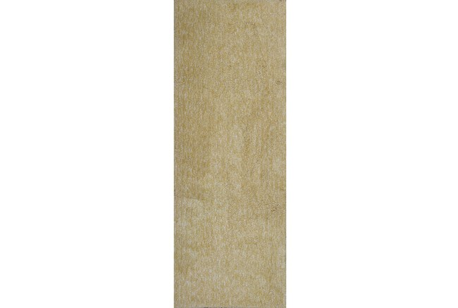 27X90 Runner Rug-Elation Shag Heather Yellow - 360