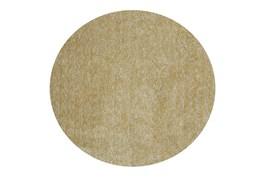 6' Round Rug-Elation Shag Heather Yellow