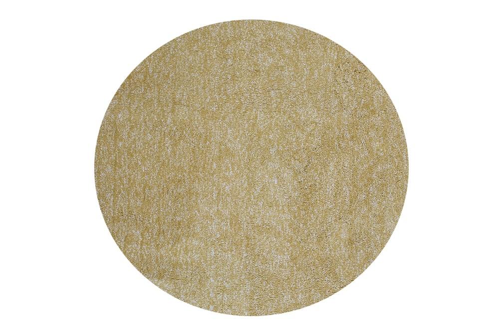 8' Round Rug-Elation Shag Heather Yellow