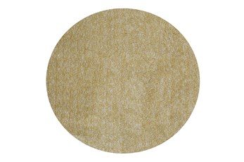 96 Inch Round Rug-Elation Shag Heather Yellow