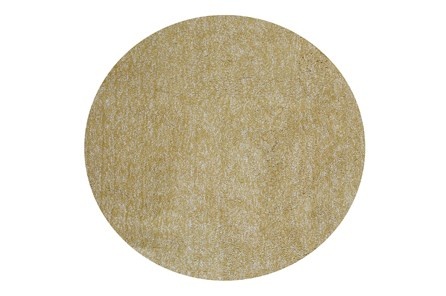 96 Inch Round Rug-Elation Shag Heather Yellow - Main