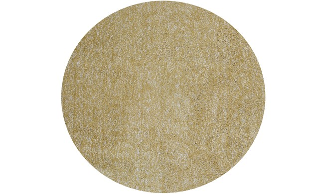 96 Inch Round Rug-Elation Shag Heather Yellow - 360