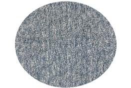 72 Inch Round Rug-Elation Shag Heather Slate