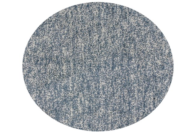 72 Inch Round Rug-Elation Shag Heather Slate - 360