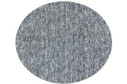 96 Inch Round Rug-Elation Shag Heather Slate