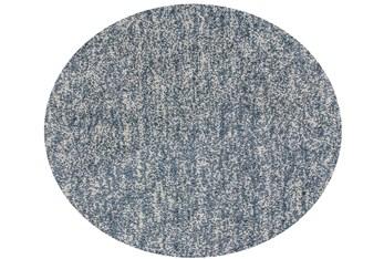 8' Round Rug-Elation Shag Heather Slate
