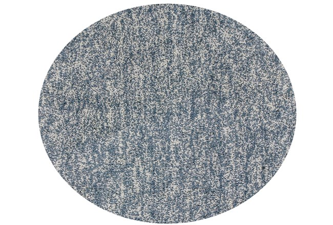 96 Inch Round Rug-Elation Shag Heather Slate - 360