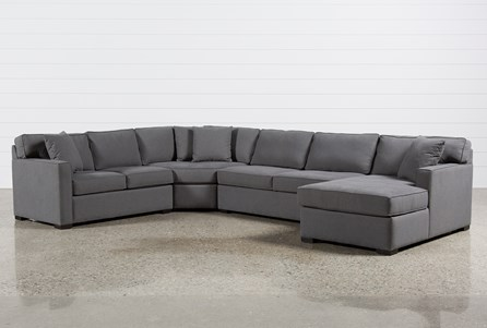 grey sectional with chaise Alder 4 Piece Sectional | Living Spaces grey sectional with chaise