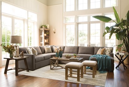 Pleasant Alder Foam 4 Piece Sectional W Right Arm Facing Chaise Gmtry Best Dining Table And Chair Ideas Images Gmtryco