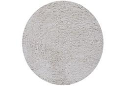 72 Inch Round Rug-Velardi Ivory Shag