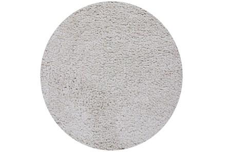 72 Inch Round Rug-Velardi Ivory Shag - Main