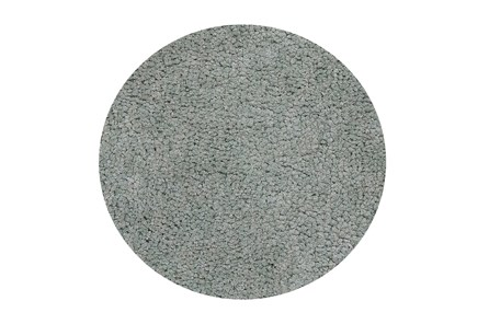 72 Inch Round Rug-Velardi Grey Shag - Main