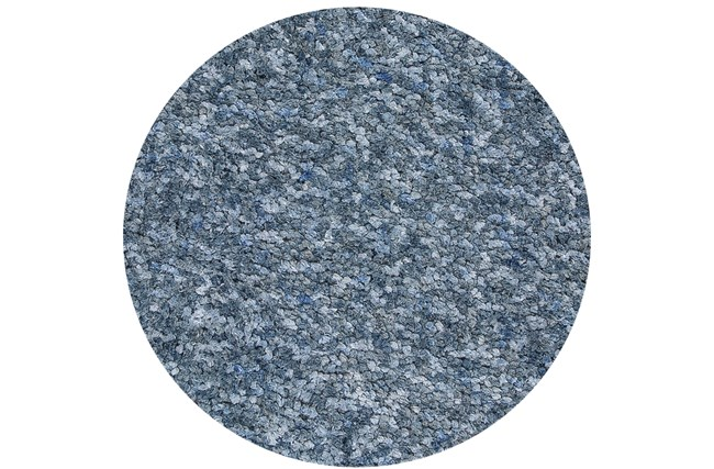 72 Inch Round Rug-Velardi Denim Heather Shag - 360