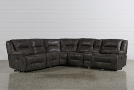 Calder Grey 6 Piece Power Reclining Sectional