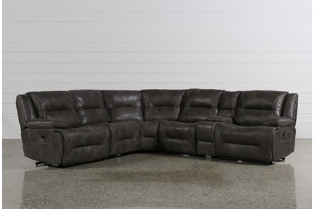 Calder Grey 6 Piece Power Reclining Sectional - Main