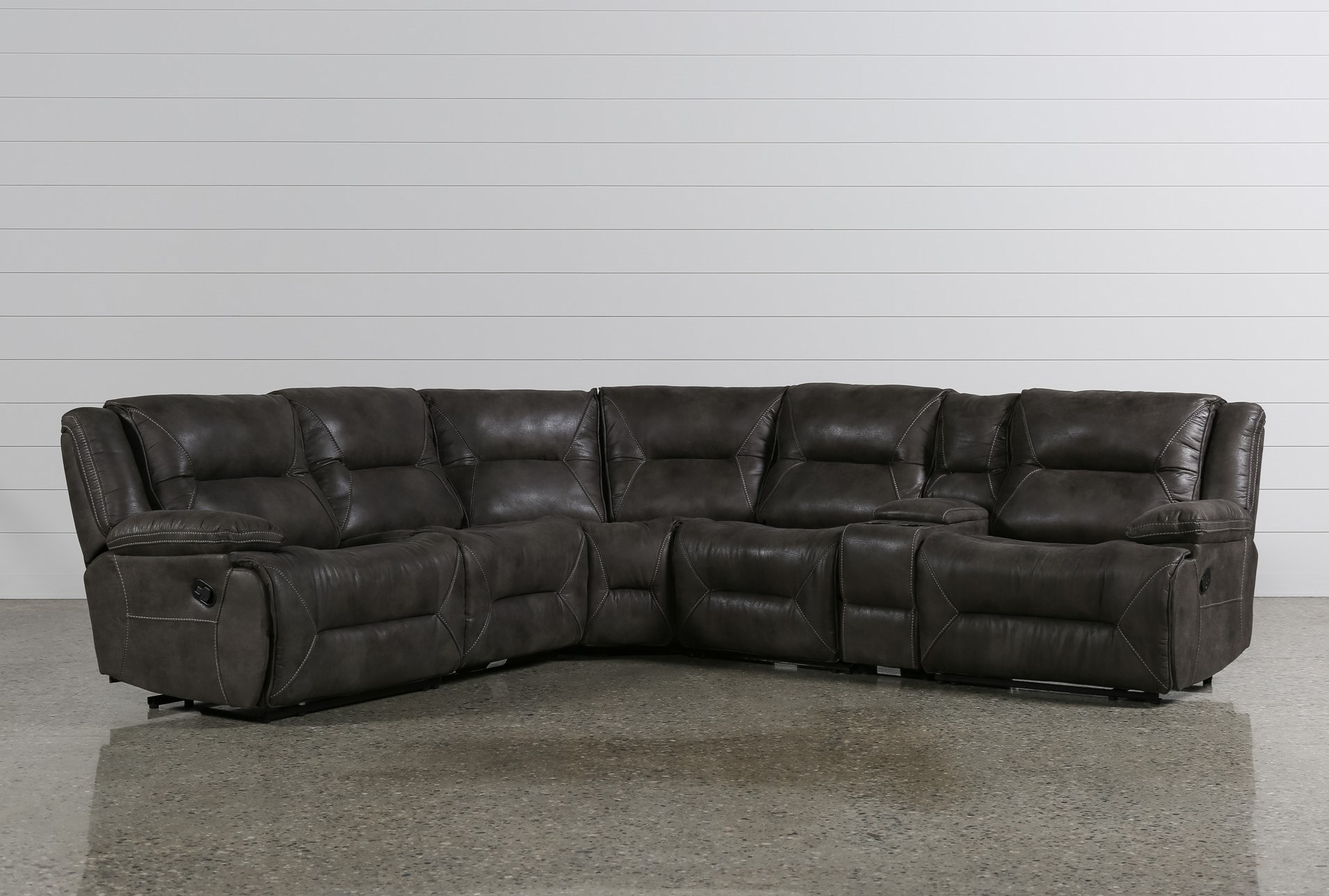 coleman timpson sectional htm reclining ashley recliner slate furniture from