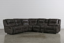 Calder Grey 6 Piece Manual Reclining Sectional