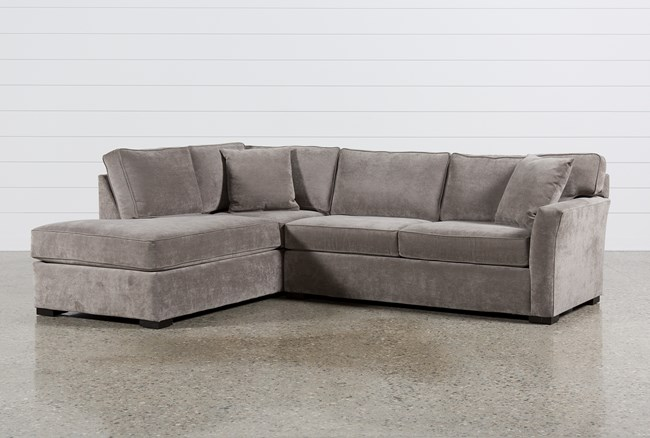 Aspen 2 Piece Sleeper Sectional Wlaf Chaise Living Spaces