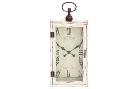 28 Inch Wood & Metal Wall Clock