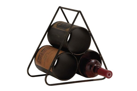 Metal Pyramid Wine Holder