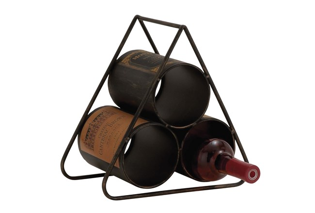 Metal Pyramid Wine Holder - 360
