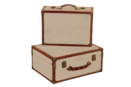 2 Piece Set Burlap Boxes - Main