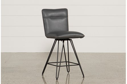 Kyle 24 Inch Cobalt Counterstool - Main