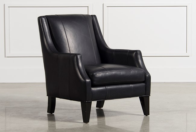 Aidan Leather Accent Chair - 360