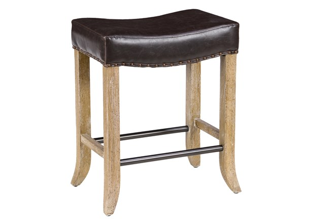 Harley Chocolate Backlesss Counterstool - 360